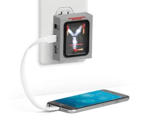 flux capacitor usb wall charger awesome collectibles on the awesomer
