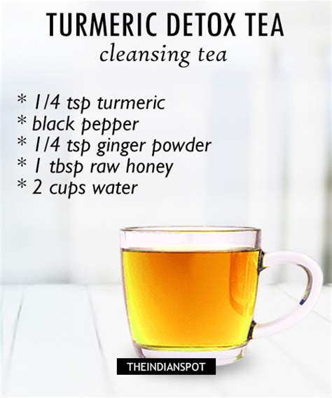 Detox Tea India by Top Turmeric Drink Recipes For Health And
