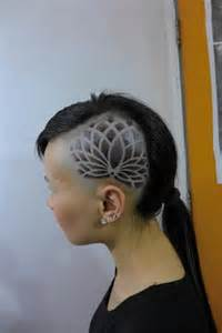 Lotus Hair Design Lotus Into Side Of Tattoos