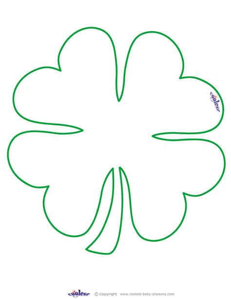 4 leaf clover template best photos of free printable clover shape four leaf