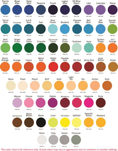 color s fabric and pantone colors