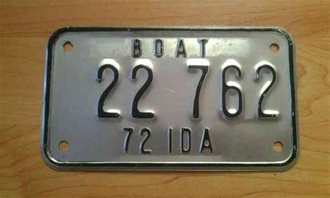 idaho boat license 1927 idaho license plate all original paint no reserve