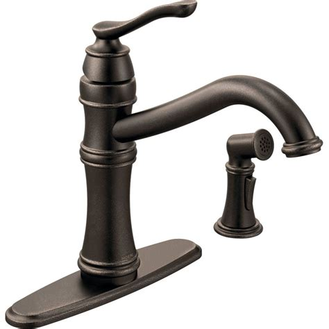 kitchen faucet one moen 7245orb belfield rubbed bronze one handle with