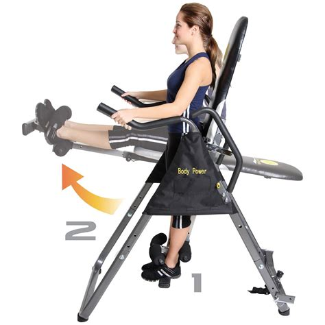 power 2 in 1 inversion table and ab crunch