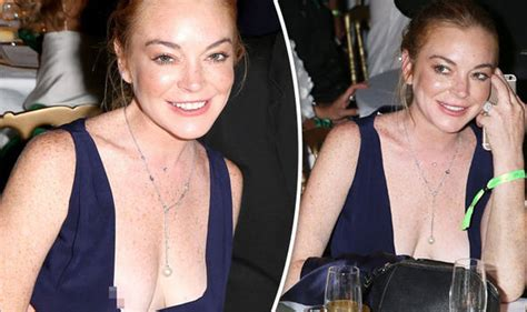 family nip slips lindsay lohan suffers embarrassing nip slip after that