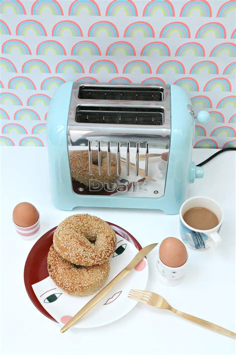 littleBIGBELL Dualit Lite toaster and kettle in pastel