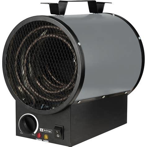 king electric portable garage heater 16 377 btu 240