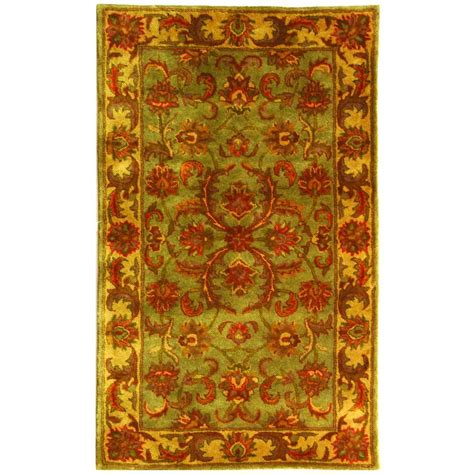 safavieh heritage accent rug in red green hg421a 2 safavieh heritage green gold 2 ft 3 in x 4 ft area rug