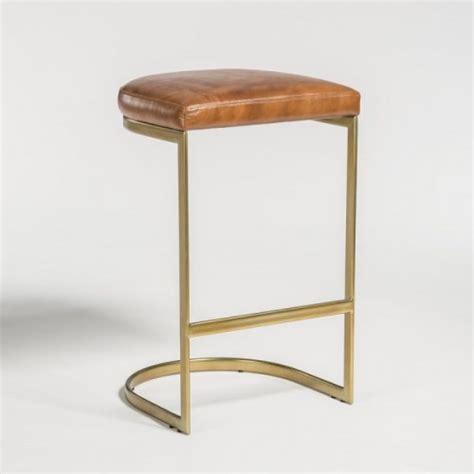 Shaped Stool by C Shaped Metal Leather Stool