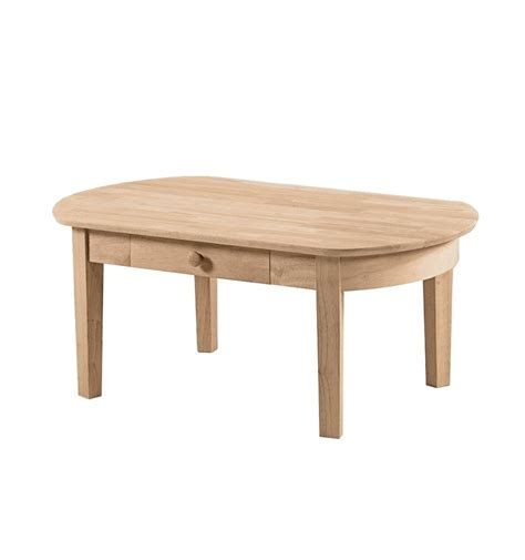 42 inch phillips oval coffee table bare wood wood