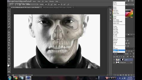 tutorial photoshop skull face photoshop cs6 tutorial half human half skull youtube