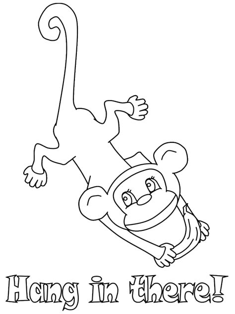 coloring page monkey hanging hanging monkeys coloring pages