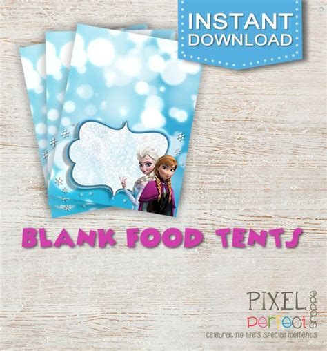printable frozen food tents free printable frozen food tents party invitations ideas