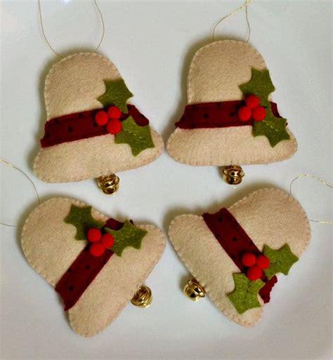 moldes de navidad en fieltro home manualidades 100 acrylic felt christmas bells pinteres