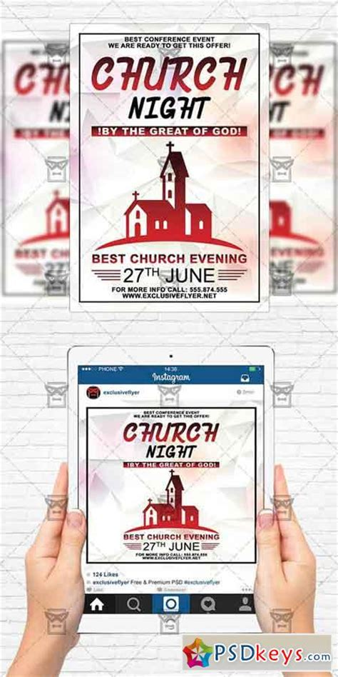 Church Night Flyer Template Instagram Size Flyer 187 Free Download Photoshop Vector Stock Instagram Flyer Template
