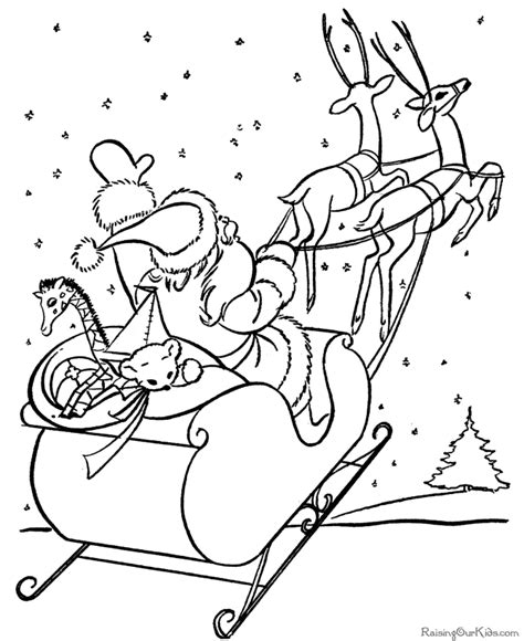 coloring pages of santa sleigh santa sleigh coloring page coloring home