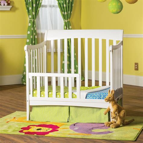 Child Craft Mini Crib Ashton Child Craft Matte White Toddler Guard Rail For Mini Crib