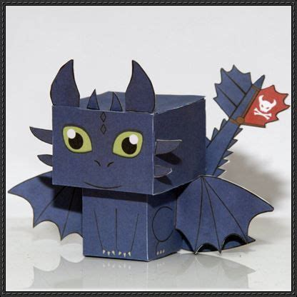 How To Make Toothless Out Of Paper - 17 best images about paper crafts on wreck it