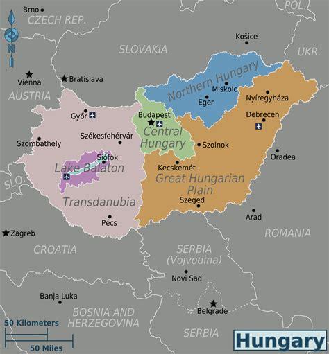 world map of hungary map of hungary political map regions worldofmaps net