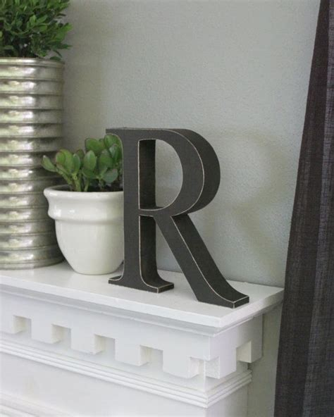 Decorative Letters For Home Free Standing by Free Standing Distressed Wooden Letters Alphabet Decor