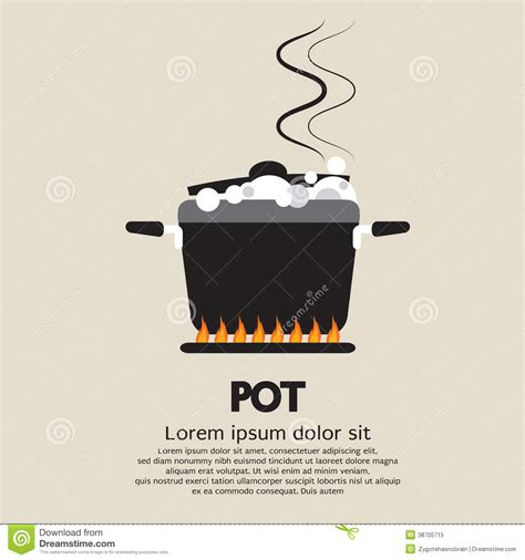 pots stock illustration image 45254770 cooking pot royalty free stock photo image 38705715