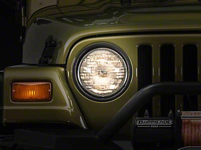 jeep tj headlight conversion wrangler headlight led conversion bulb kit 97 06 wrangler