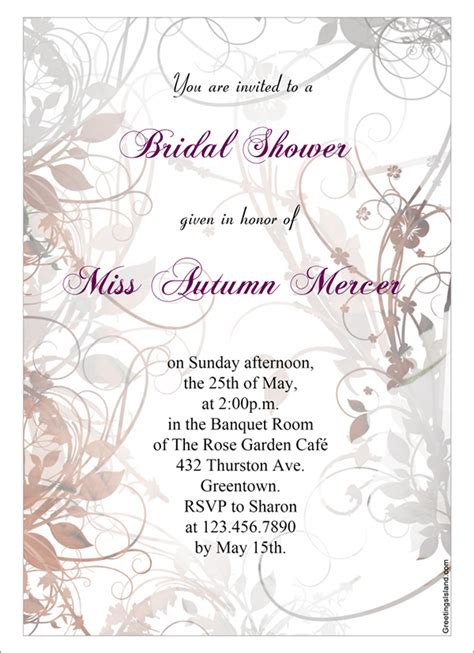 printable wedding shower invitations templates 22 free bridal shower printable invitations