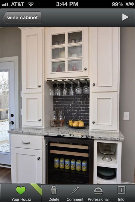 built in beverage center in a dining room google search