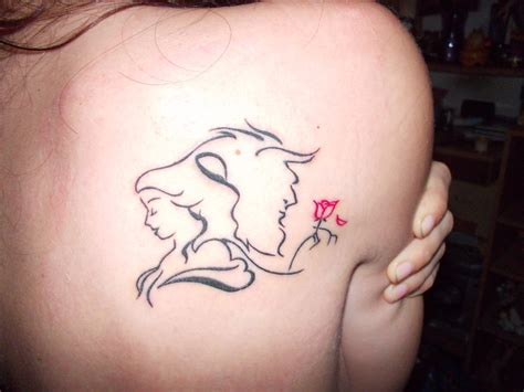 beauty and the beast tattoo and the beast back tattoomagz