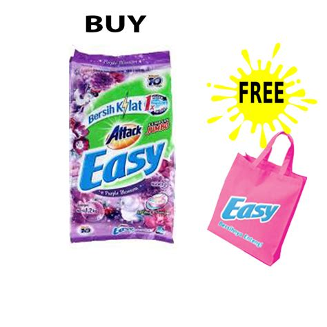 B7 Attack Plus Softener 1 2kg promo attack easy detergent 1 2kg free goodie bag