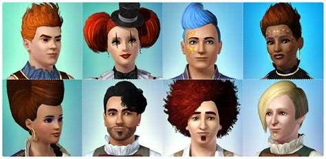 the sims 3 hairstyles and their expansion pack hair store the sims 3