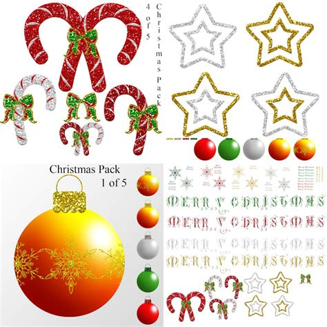 christmas decorations photoshop templates free stock