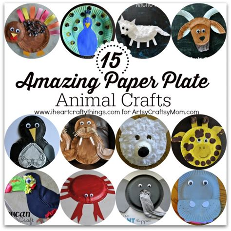 Animal Masks To Make With Paper Plates - 15 amazing paper plate animal crafts artsy craftsy
