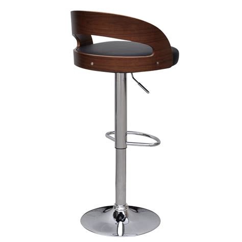adjustable wooden bar stools black brown 2 pcs curved wooden bar stool with adjustable