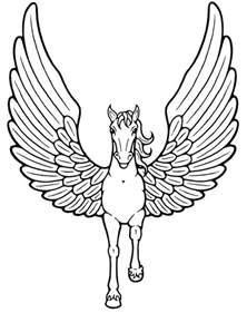 wings of coloring pages 6 the unicorns with wings coloring sheet