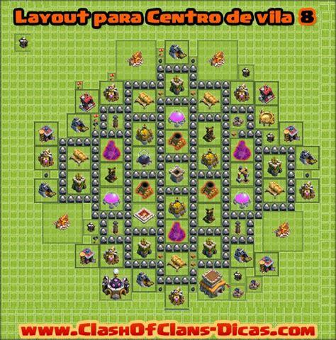 layout vila nivel 8 clash of clans dicas de layouts para clash of clans todos os centro de