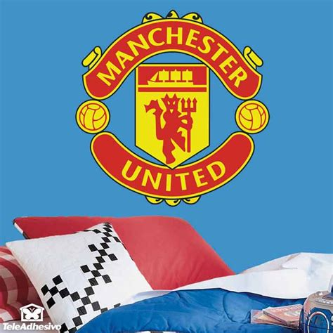utd wall stickers manchester united badge color