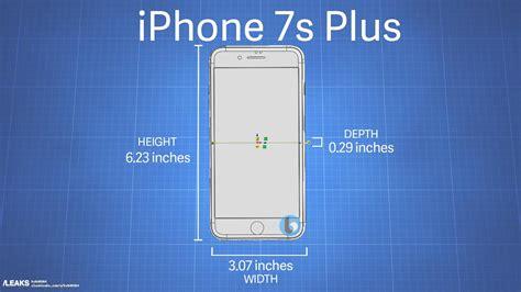 filtran las medidas iphone 7s y iphone 7s plus