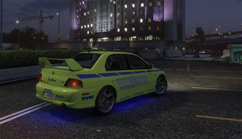 fast and furious gta 5 mitsubishi lancer 2 fast 2 furious paintjob gta5 mods com