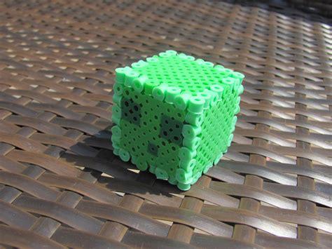 perler bead 3d 3d perler bead minecraft slime diy