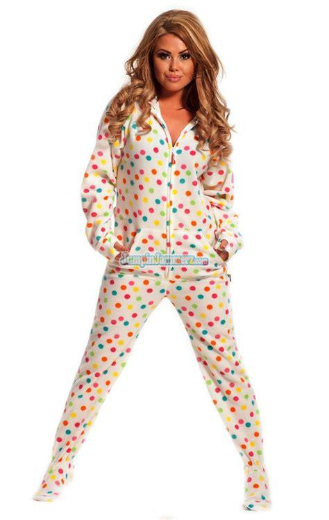 drop seat pajamas for adults frosty dots drop seat hoodie pajamas footie pjs