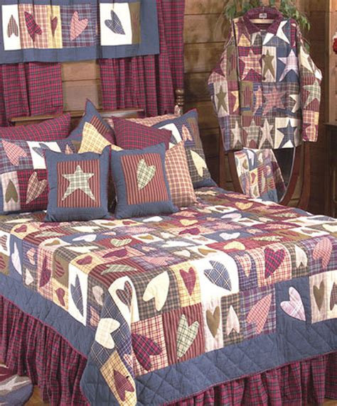 bedroom quilts and curtains primitive hearts by patchmagic quilts beddingsuperstore com