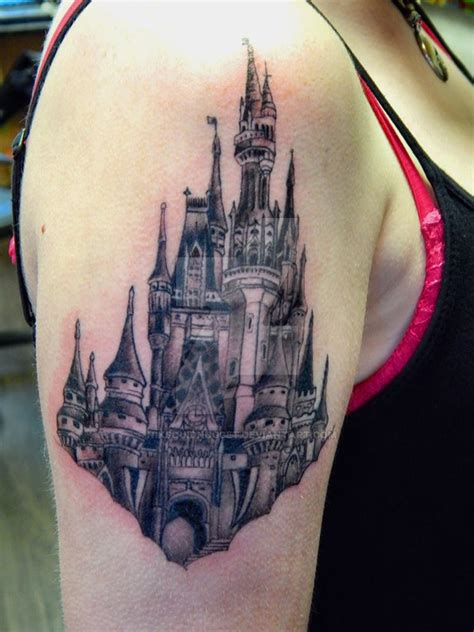 my gothic disney castle tattoo by niksquidnugget on deviantart