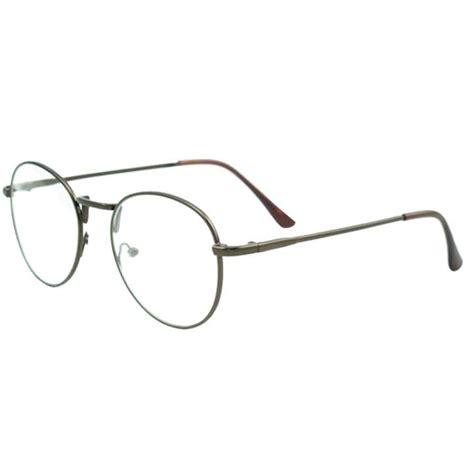 Bingkai Kacamata adapula mata lingkaran bingkai logam bundar tipis bening