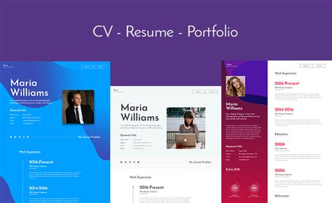 Let S Build Your Online Profile With This Free Bootstrap Resume Template Bootstrap Resume Template Free