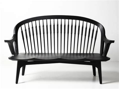 indoor bench with back and arms furniture curved banquette seating sofa heavenly gray