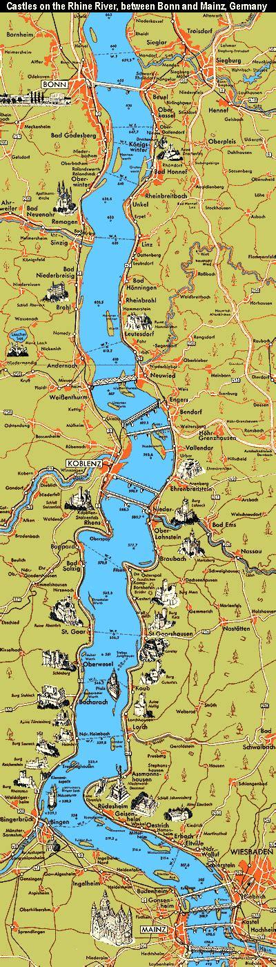 rhine germany map amazing rhine river