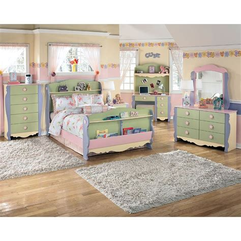 doll house sleigh bedroom set  signature design  ashley  reviews furniturepick