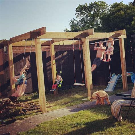 garden pergola climbing frame  swings monkey