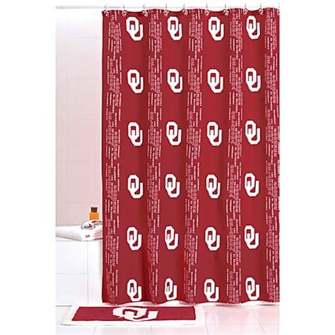 ou shower curtain university of oklahoma 71 inch x 71 inch shower curtain